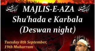 Majlis E Aza – Shu'hada E Karbala